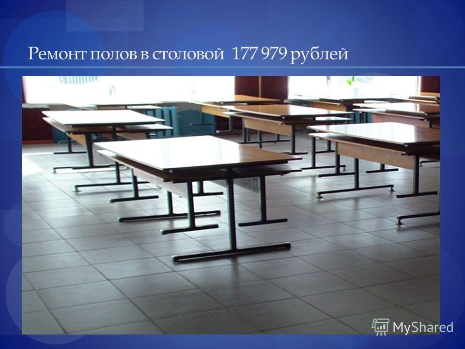 Ремонт полов в столовой 177 979 рублей