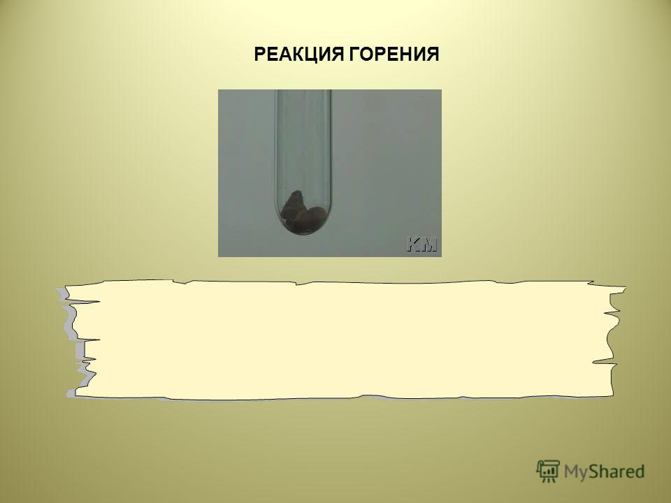 РЕАКЦИЯ ГОРЕНИЯ