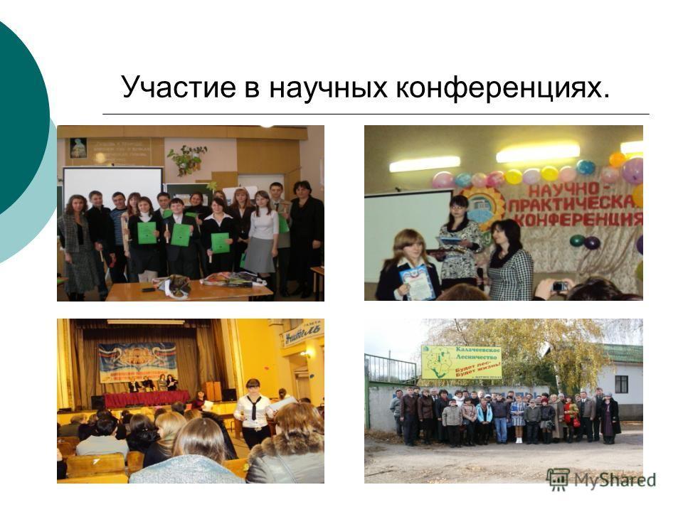 Участие в научных конференциях.