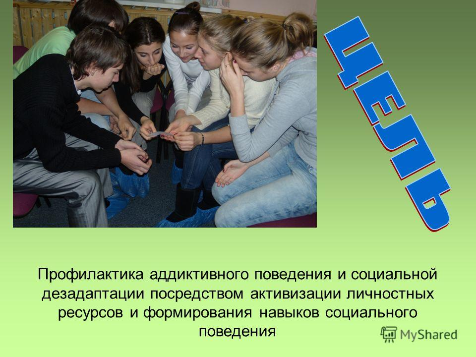 Профилактика аддиктивного поведения и социальной дезадаптации посредством активизации личностных ресурсов и формирования навыков социального поведения