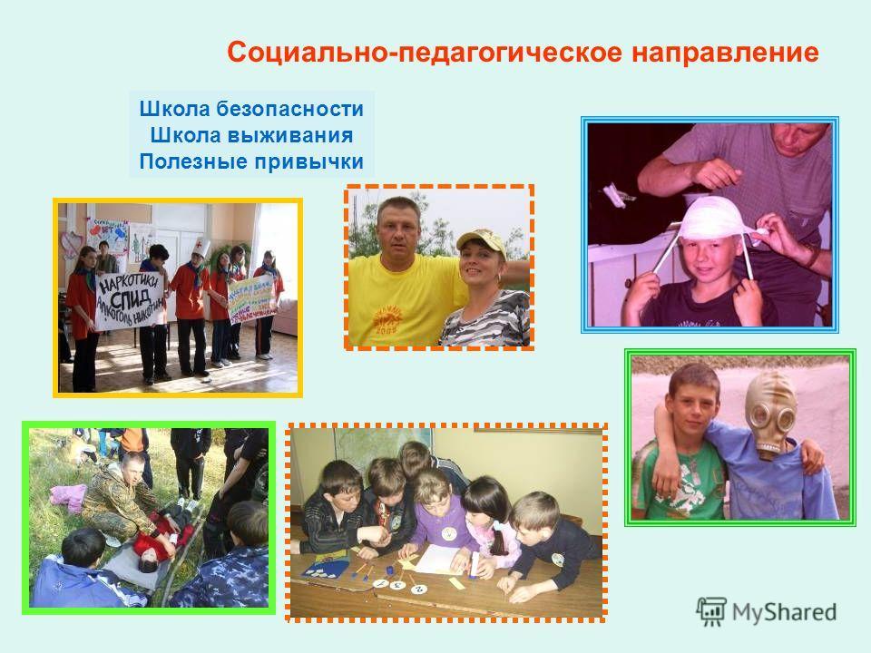 Социально-педагогическое направление Школа безопасности Школа выживания Полезные привычки