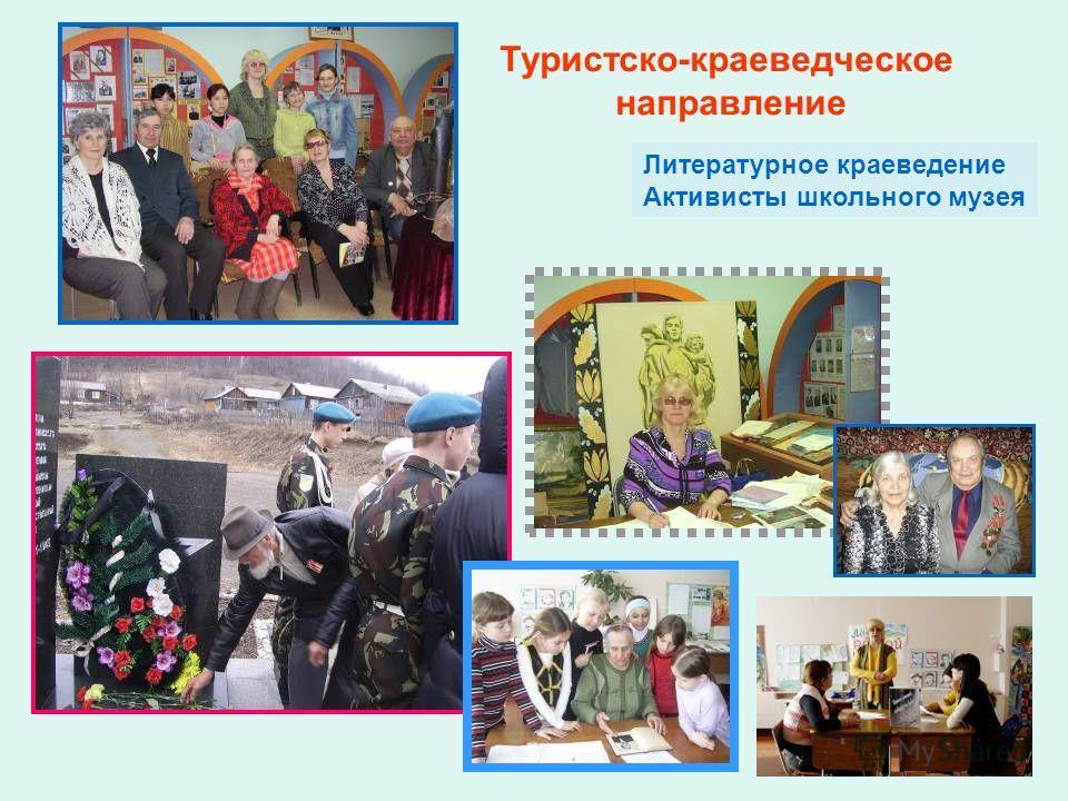Литературное краеведение Активисты школьного музея Туристско-краеведческое направление