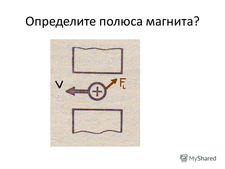 Определите полюса магнита?