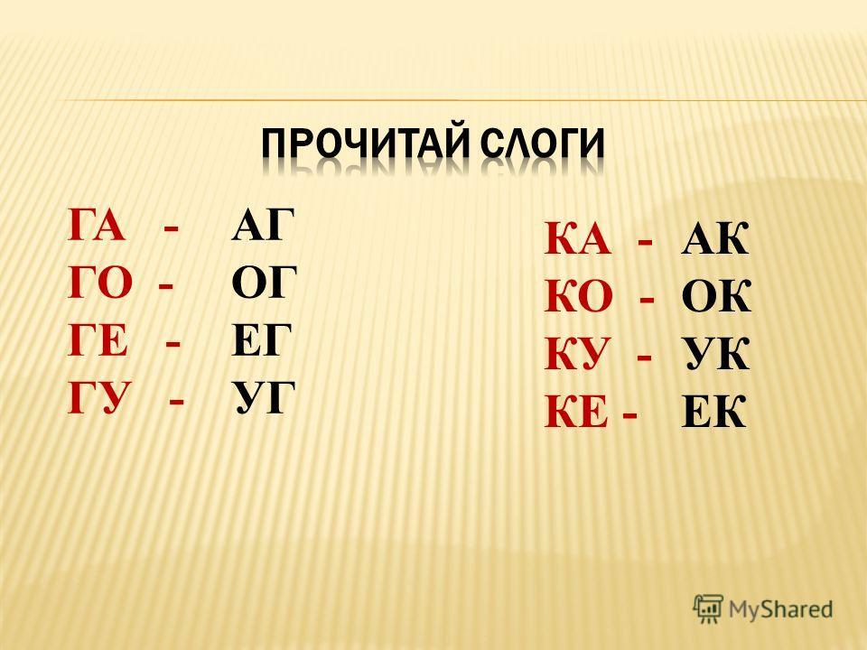 ГА-ГА-ГА-ГА ГО-ГО-ГО-ГО ГУ-ГУ-ГУ-ГУ Г____А – КА Г____О – КО Г____У – КУ КА-КА-КА-КА КО-КО-КО-КО КУ-КУ-КУ-КУ