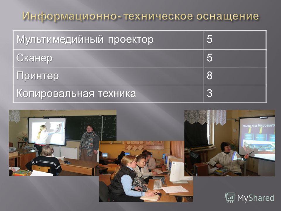 Мультимедийный проектор 5Сканер5 Принтер8 Копировальная техника 3