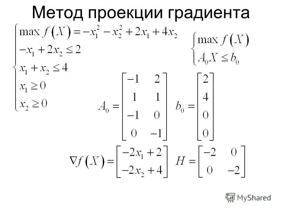 Метод проекции градиента
