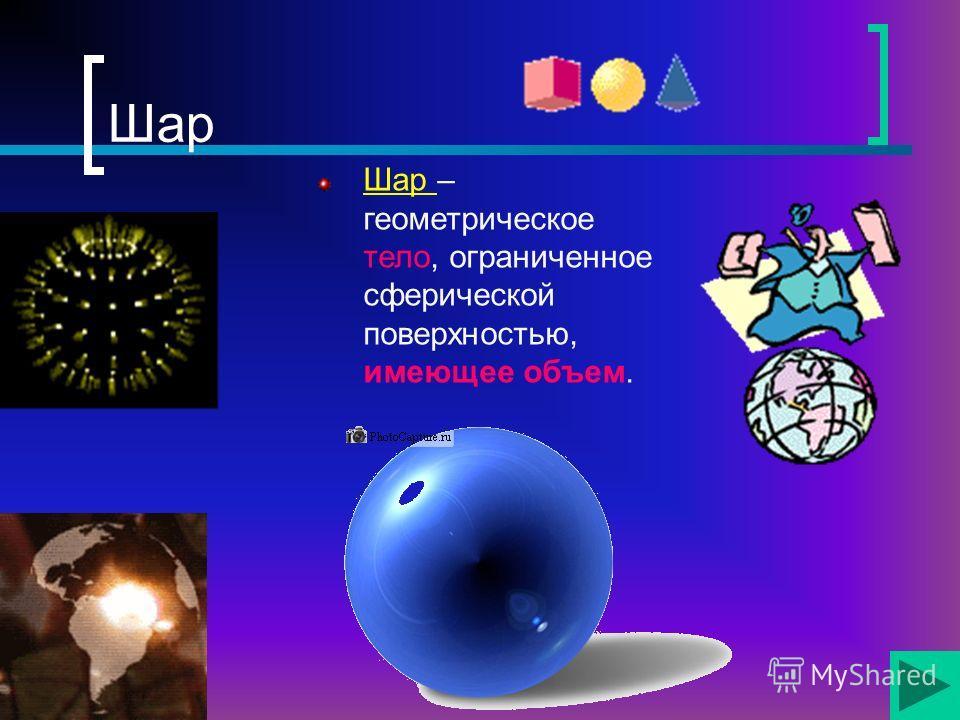 Сфера Сфера – поверхность шара. Сфера – поверхность в пространстве, все точки которой одинаково удалены от центра.