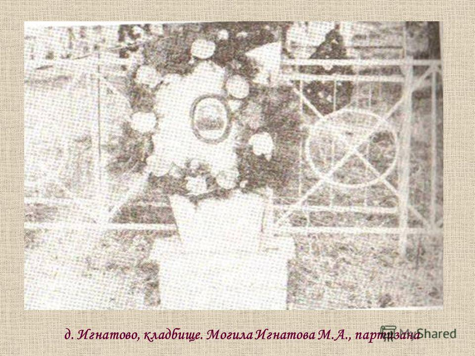 д. Игнатово, кладбище. Могила Игнатова М.А., партизана