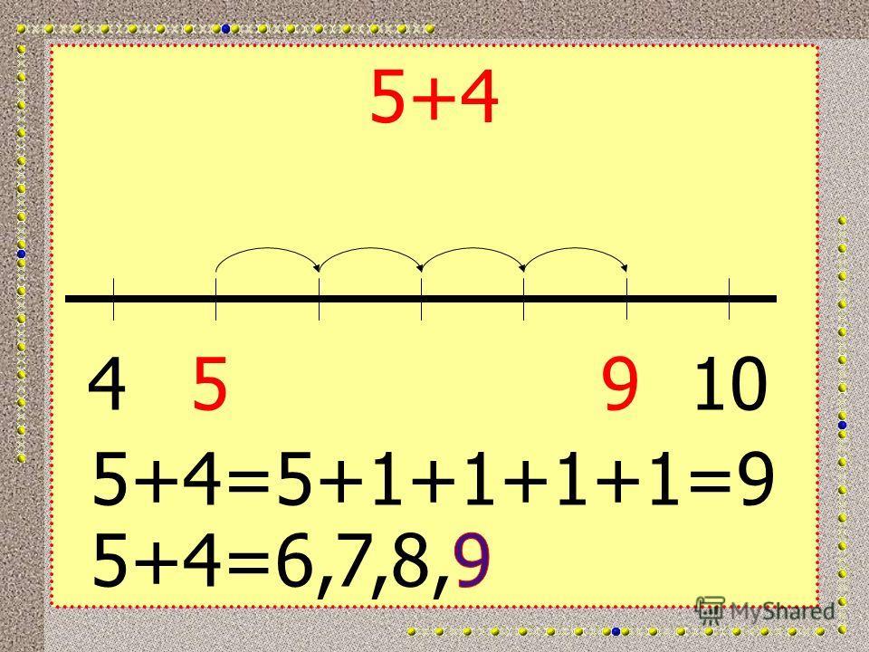 5+4 45910 5+4=5+1+1+1+1=9