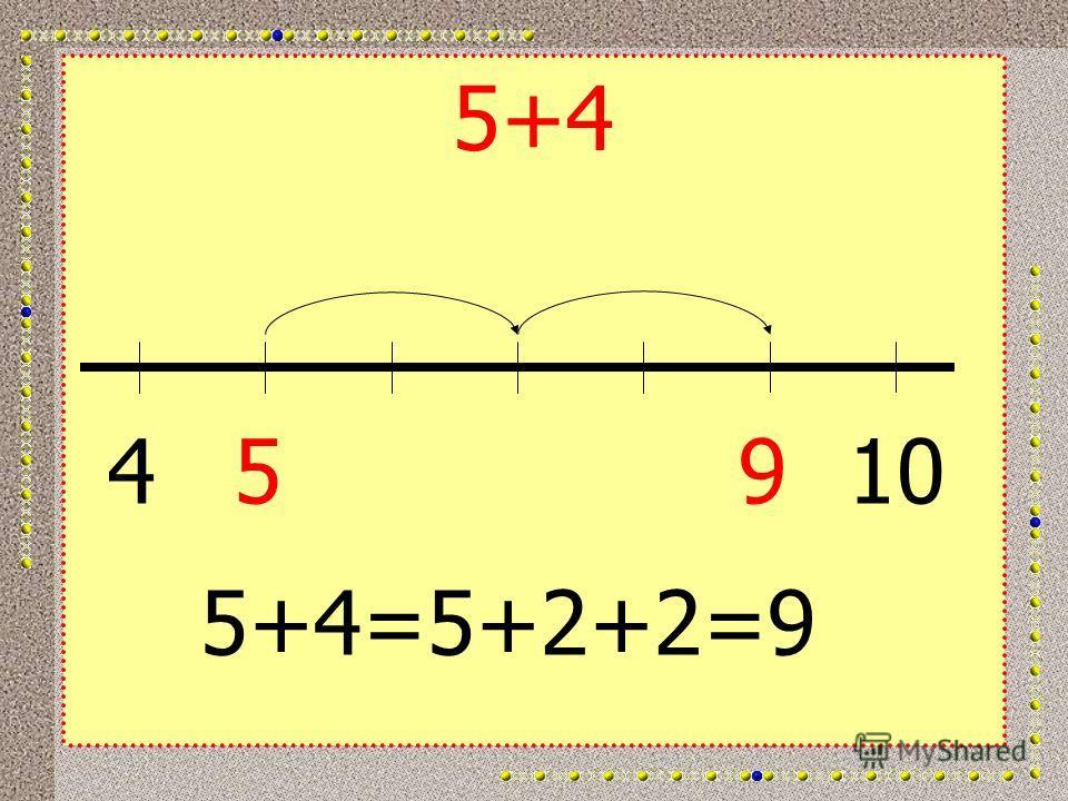 5+4 45910 5+4=5+2+2=9