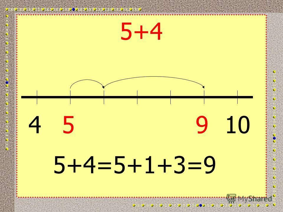 5+4 45910 5+4=5+1+3=9