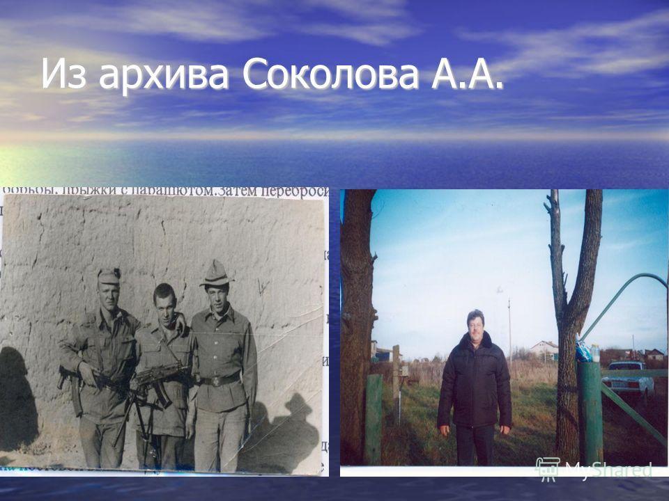 Из архива Соколова А.А.