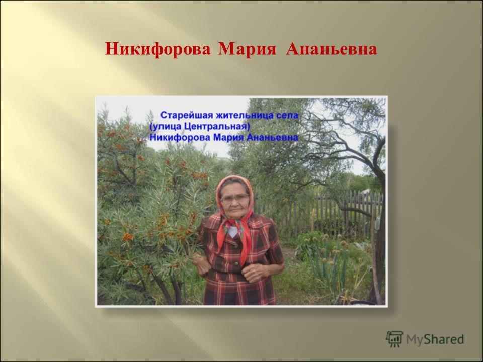 Никифорова Мария Ананьевна
