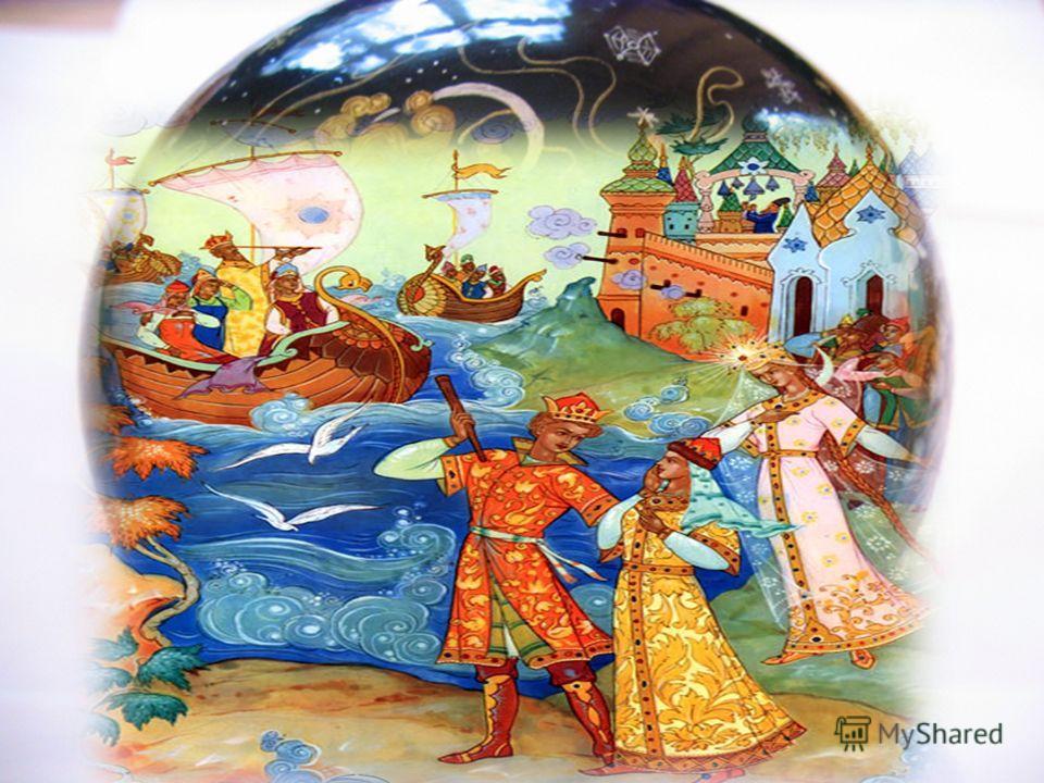 Die Bildmotive sind Szenen aus russischen Volksmärchen.Volksmärchen