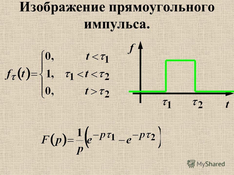 Изображение прямоугольного импульса.