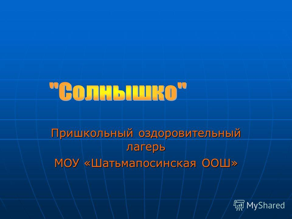 Пришкольный оздоровительный лагерь МОУ «Шатьмапосинская ООШ»