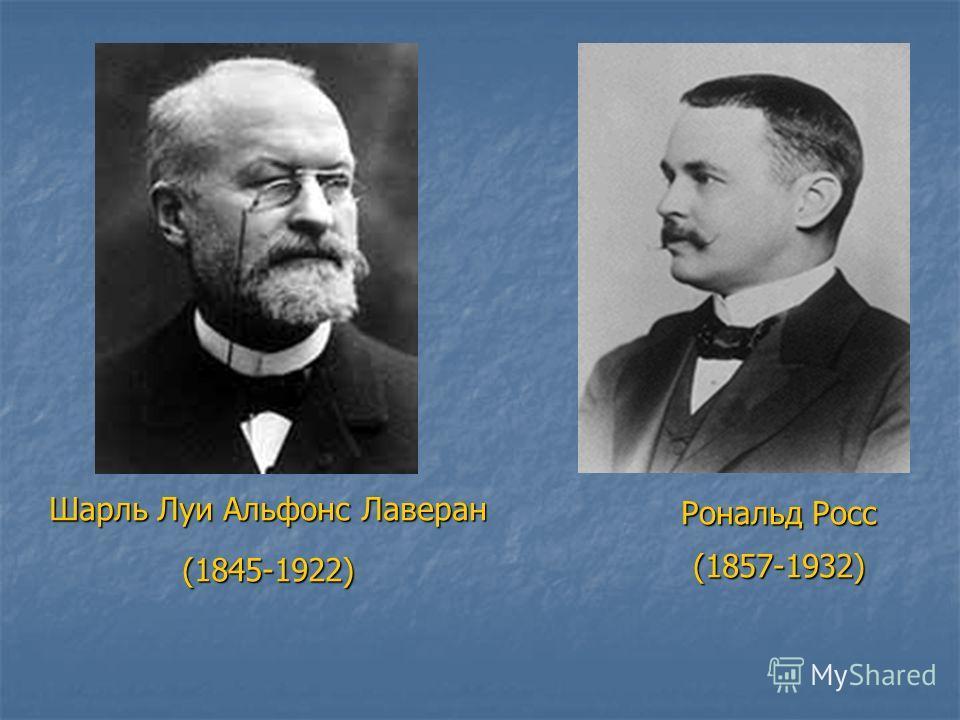 Шарль Луи Альфонс Лаверан (1845-1922) Рональд Росс (1857-1932)