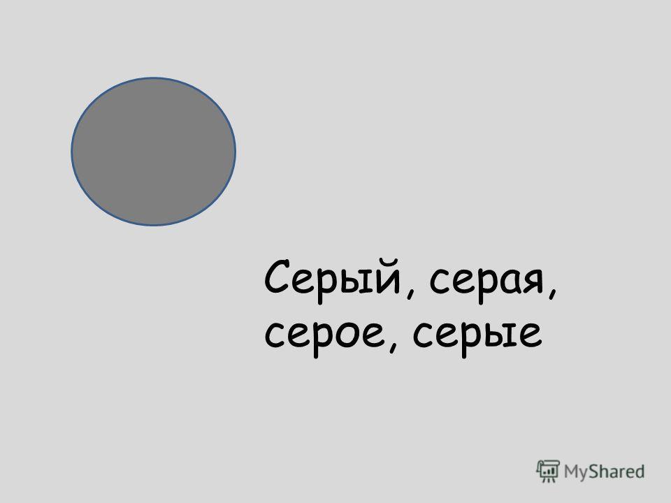 Серый, серая, серое, серые