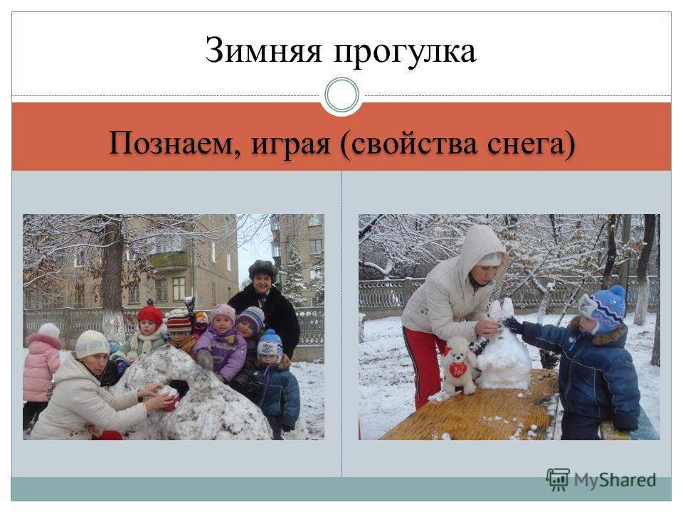 Познаем, играя (свойства снега) Зимняя прогулка