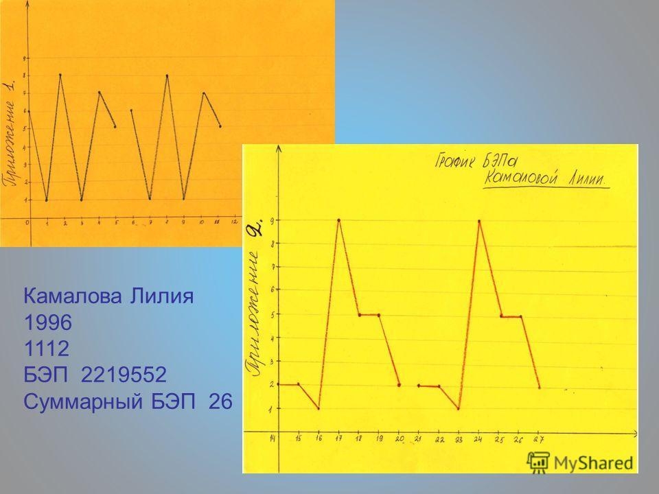 Камалова Лилия 1996 1112 БЭП 2219552 Суммарный БЭП 26