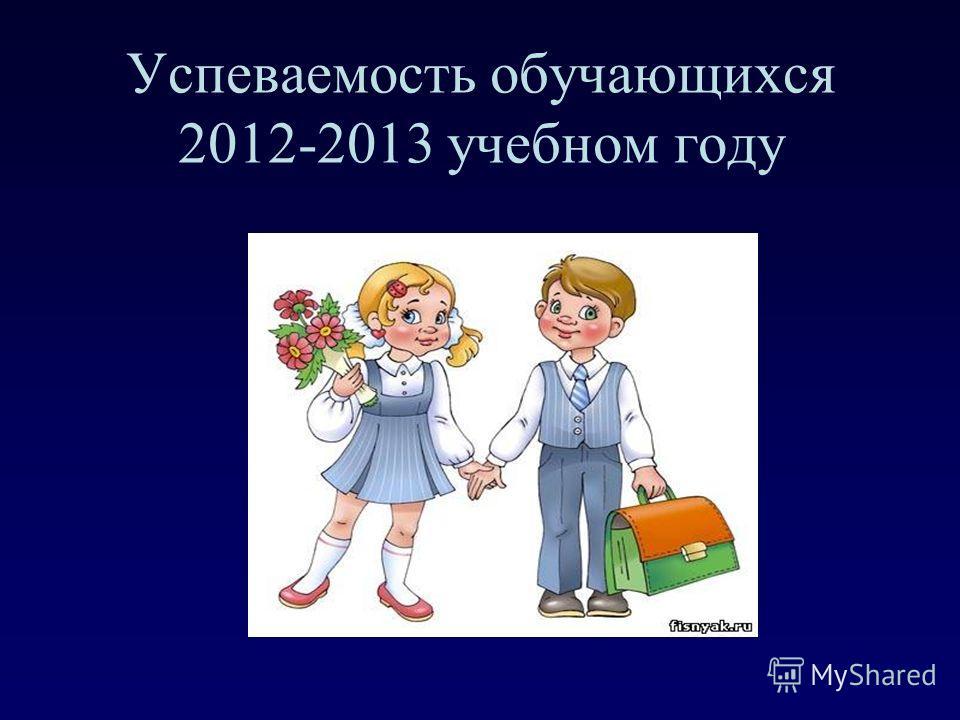 Успеваемость обучающихся 2012-2013 учебном году