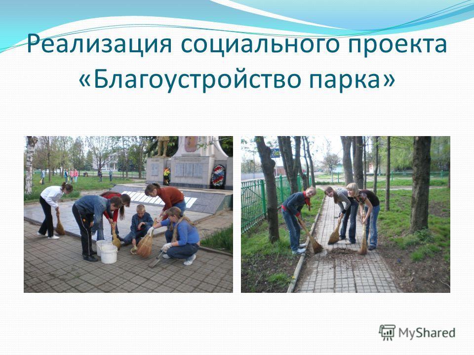 Реализация социального проекта «Благоустройство парка»