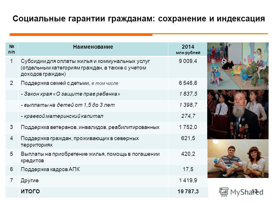«Программная» структура расходов краевого бюджета в 2014 году 12