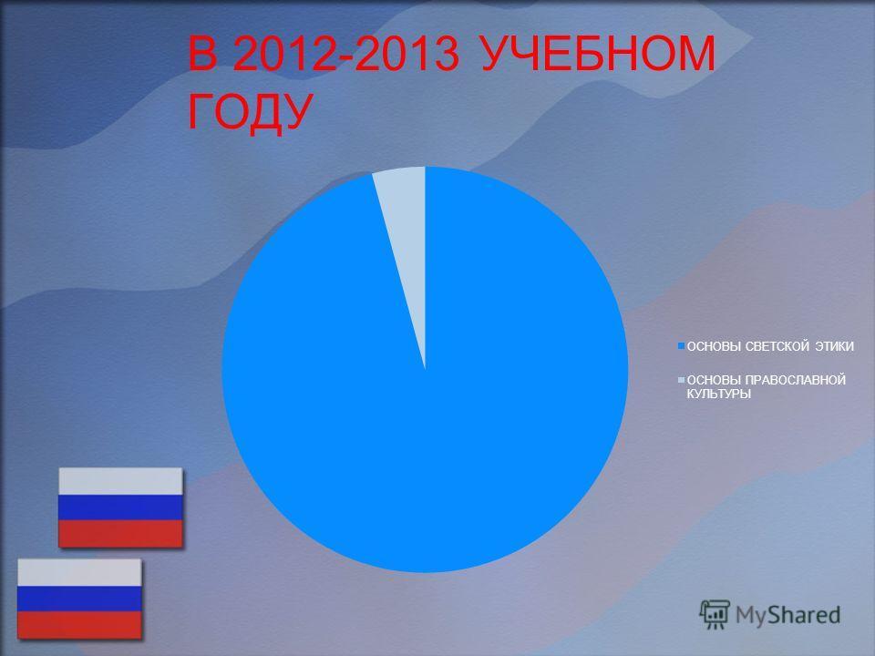 В 2012-2013 УЧЕБНОМ ГОДУ
