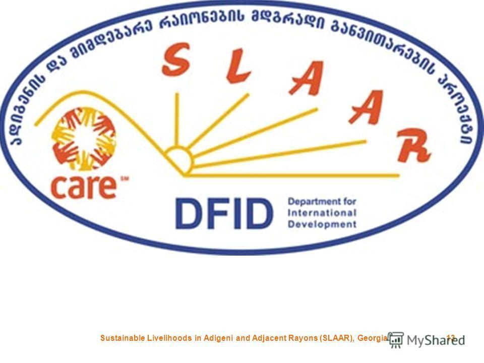 Sustainable Livelihoods in Adigeni and Adjacent Rayons (SLAAR), Georgia13