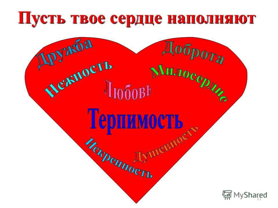 11 Пусть твое сердце наполняют