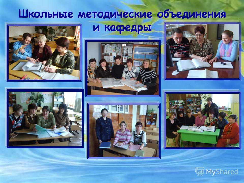 Школьные методические объединения и кафедры