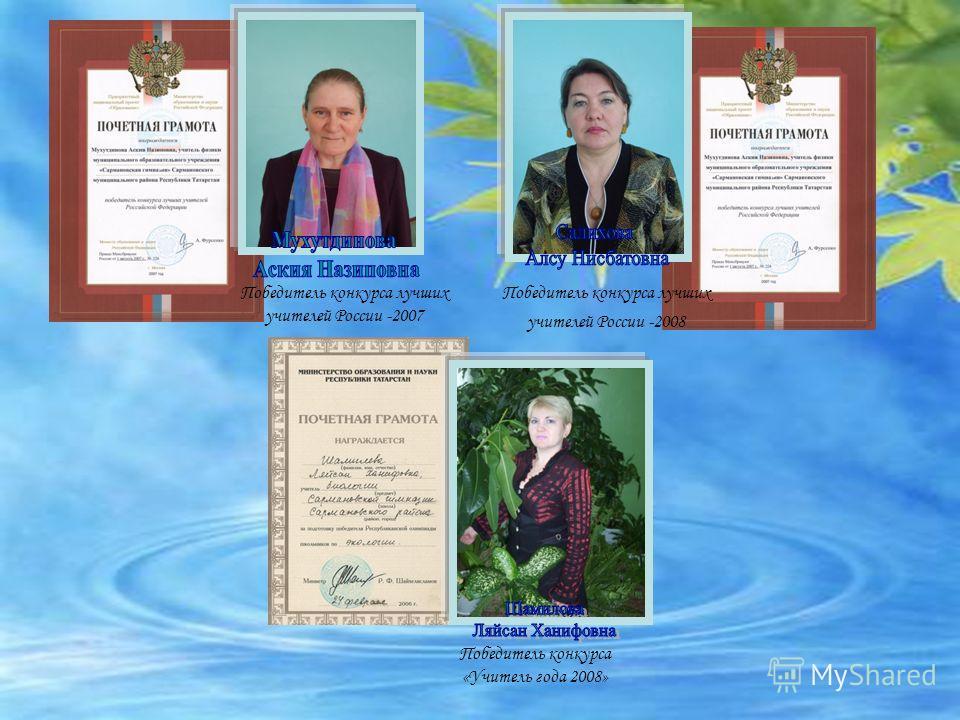 Списком учителей победителей конкурса