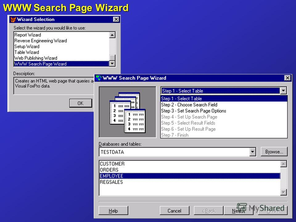 WWW Search Page Wizard