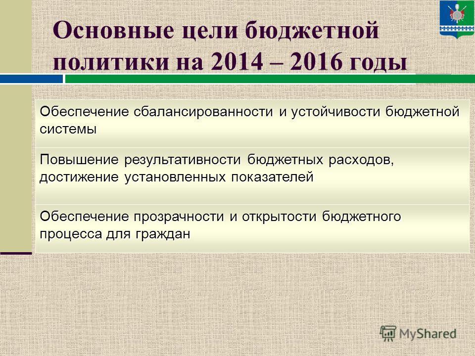Исходные данные для формирования бюджета муниципального района на 2014-2016 годы, % к предыдущему году для разработки бюджета принят умеренно-оптимистичный вариант прогноза развития региональной экономики и бюджетного сектора