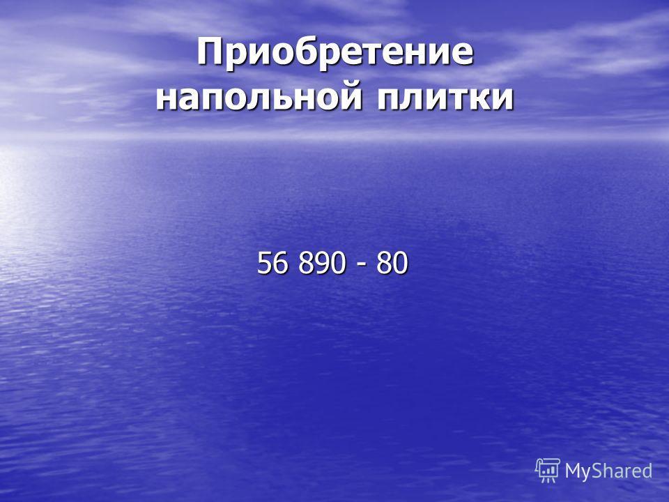 Приобретение напольной плитки 56 890 - 80