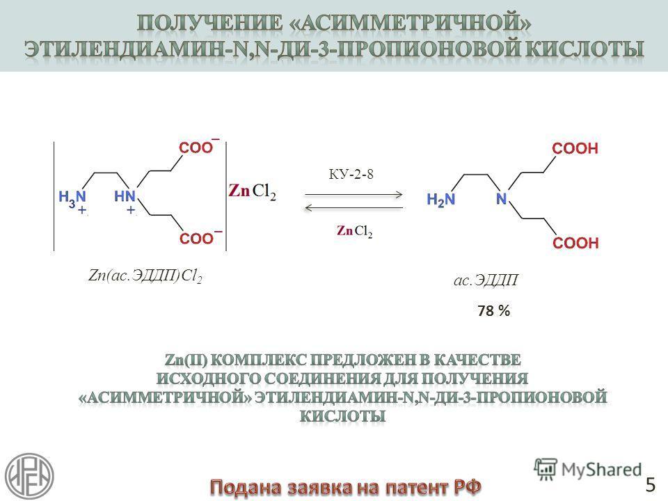 КУ-2-8 5 78 % ас.ЭДДП Zn(ас.ЭДДП)Cl 2