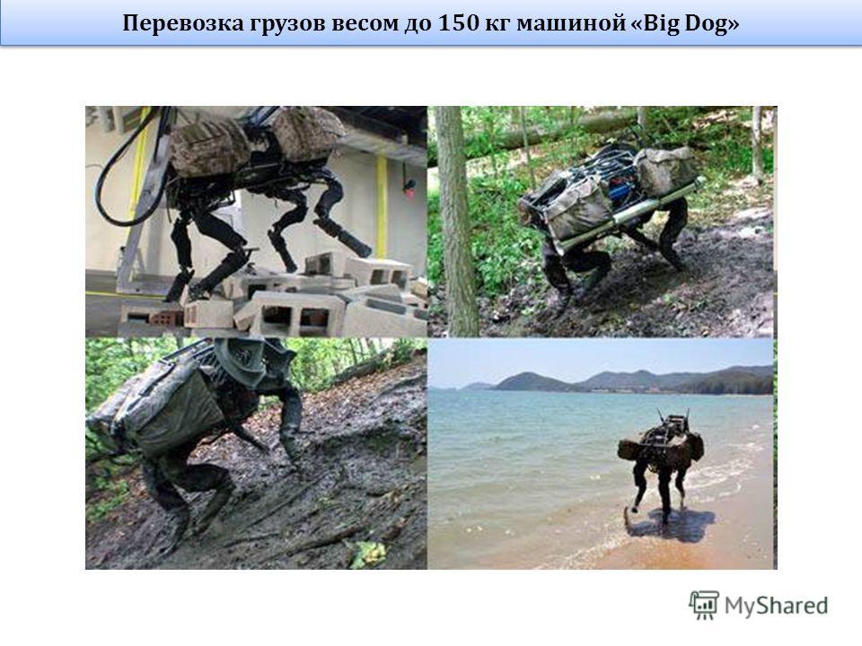 Перевозка грузов весом до 150 кг машиной «Big Dog»