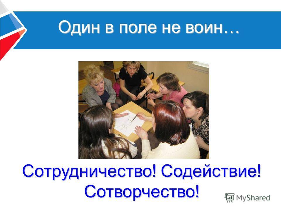 Один в поле не воин… Сотрудничество! Содействие! Сотворчество!