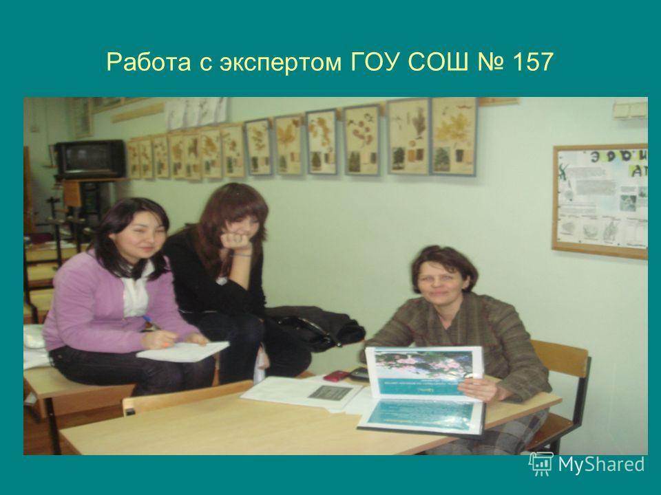 Работа с экспертом ГОУ СОШ 157