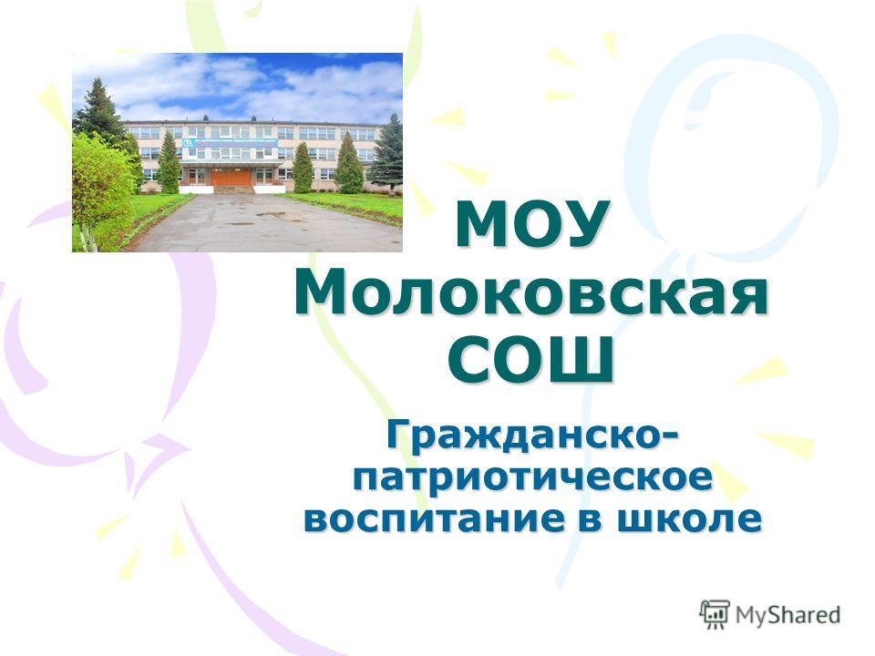 МОУ Молоковская СОШ Гражданско- патриотическое воспитание в школе
