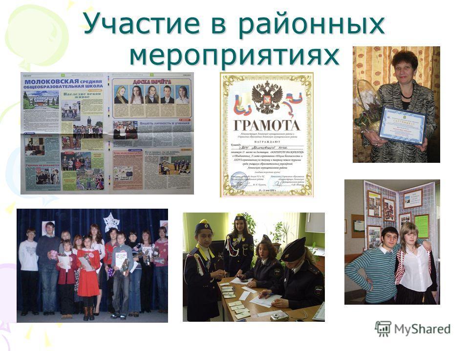 Участие в районных мероприятиях