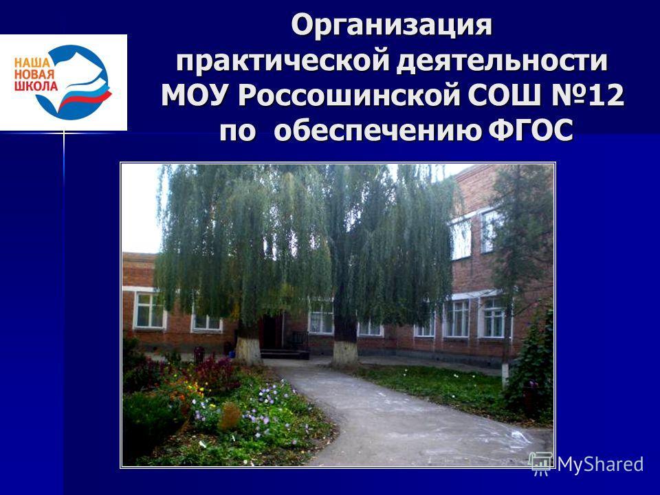 Организация практической деятельности МОУ Россошинской СОШ 12 по обеспечению ФГОС