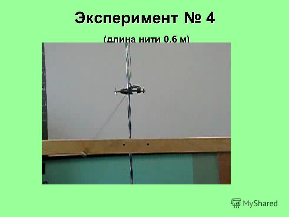 Эксперимент 4 (длина нити 0,6 м)