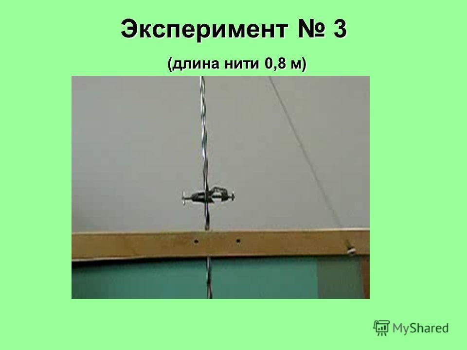 Эксперимент 3 (длина нити 0,8 м)