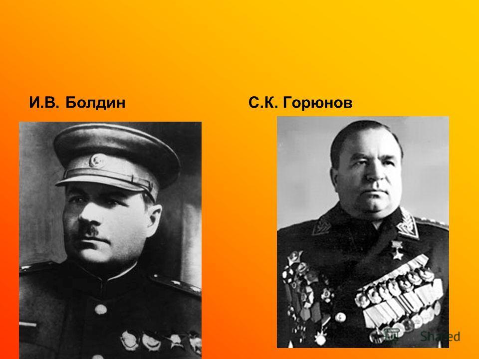 И.В. БолдинС.К. Горюнов