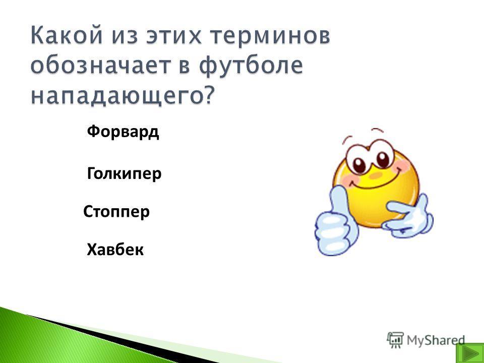 Форвард Голкипер Стоппер Хавбек