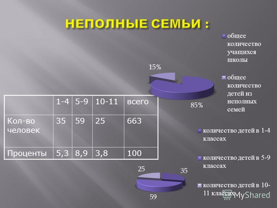 1-45-910-11всего Кол-во человек 355925663 Проценты5,38,93,8100