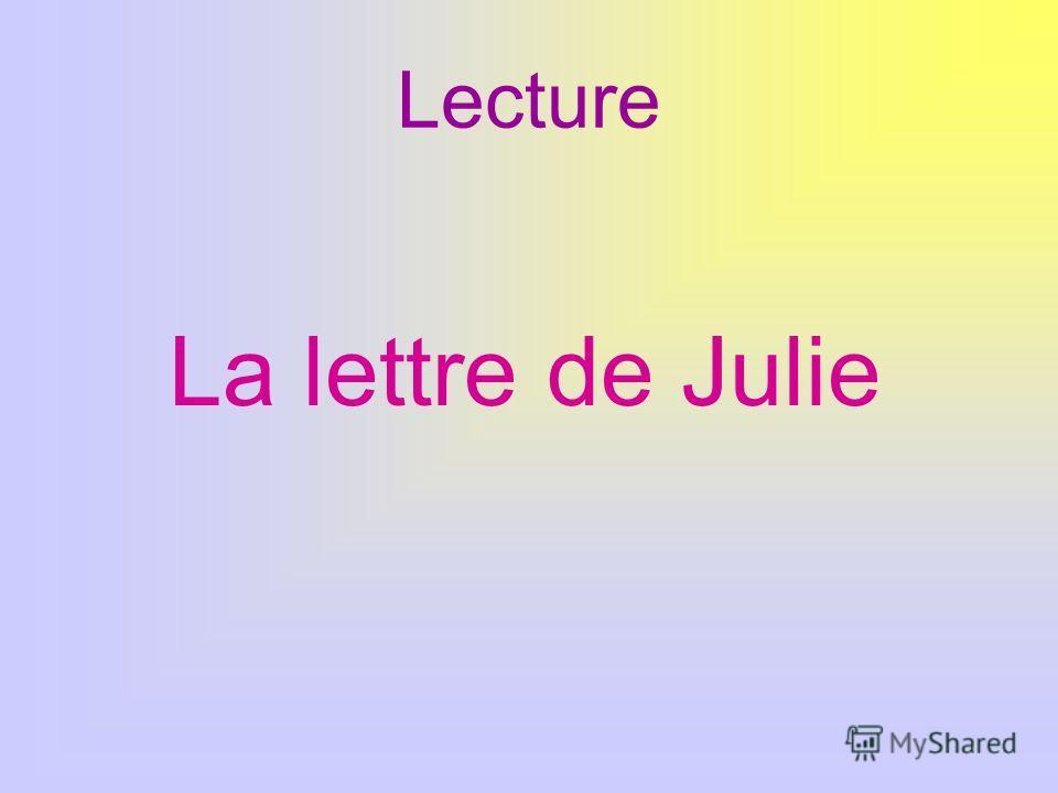 Lecture La lettre de Julie