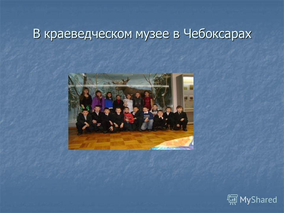 В краеведческом музее в Чебоксарах