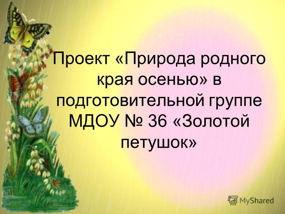 Проект «Природа родного края осенью» в подготовительной группе МДОУ 36 «Золотой петушок»